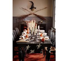Pottery Barn Halloween Decorations Broomstick Witches Table Runner Pottery Barn
