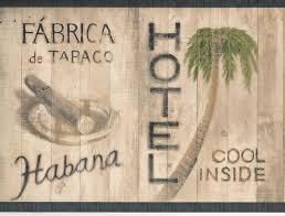 caribbean hotel cafe cigar bar wallpaper border tg2259b u003cbr
