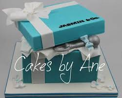 Tiffany Blue Baby Shower Cake - cakes by ane