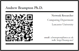 latex qr based business card