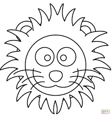 cartoon lion head coloring page free printable coloring pages