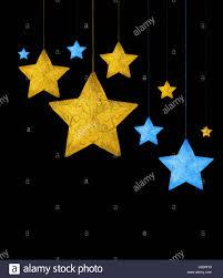 holiday card border with christmas tree star ornamental decoration
