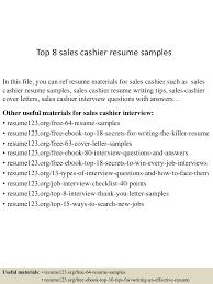 resume examples sales head cashier resume samples cashier resume template entry level top8salescashierresumesamples 150528050932 lva1 app6891 thumbnail 4jpgcb1432789817 cashier resume example