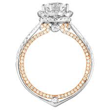 two tone gold engagement rings certified 1 08 carat f vvs1 two tone gold engagement