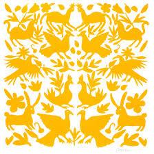 stencil boss mexican otomi fabric textiles allover designer