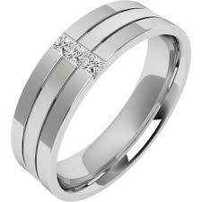 mens engagement rings white gold a stunning princess cut set mens wedding ring in 18ct
