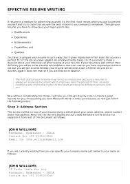 Currently Working Resume Sample Download Effective Resume Haadyaooverbayresort Com