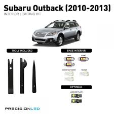 subaru outback white subaru outback premium led interior lighting package 2013 2012