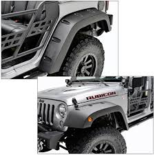 jeep black rubicon amazon com eag pocket rivet style front rear fender flares for 07
