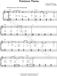 theme song luther jason paige pokémon theme sheet music in d minor transposable
