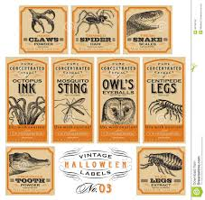 funny vintage halloween apothecary labels set 03 vector stock