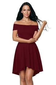 elegant burgundy all the rage skater dress