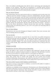 Good Resume Characteristics Essential Characteristics Of Entrepreneurs