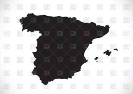 Maps Of Spain Map Of Spain Silhouette Vector Image 88323 U2013 Rfclipart