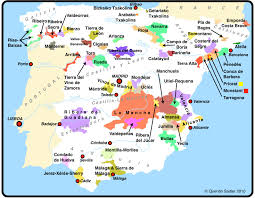 A Map Of Spain by Mediterranean Garden Spain Map Of Wine Producing Areas Of Spain