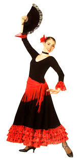 deluxe flamenco dancer mexican or spanish costumes