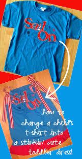 diy tutorial transform child u0027s t shirt into toddler dress