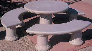 Concrete Table And Benches Concrete Landscape Tables Outdoor Concrete Tables Phoenix
