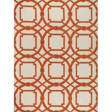 global views arabesque rug in coral candelabra inc