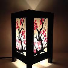 japanese lantern table l bedside table l sakura japanese blossom paper lantern regarding