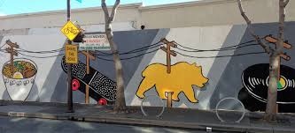 behind berkeley s big new mural on telegraph avenue arts music click to enlarge