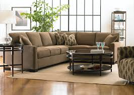 Furniture Ideas For Small Living Rooms L Brown Fabric Sofa With Back Added By Black Table With
