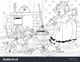 fairy tale cinderella cute little stock illustration