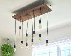 Modern Pendant Lights For Kitchen by Kitchen Lighting Wood Chandelier W 7 Pendant Lights Modern