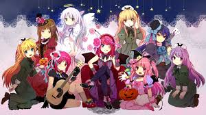 halloween background anime angel beats full hd wallpaper and background 2560x1440 id 256781