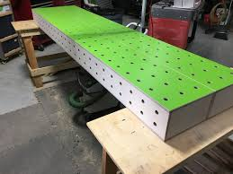 new cncd box beam workbench with festool holy system 4032 3024