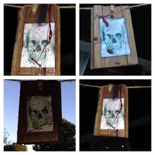 halloween wood blocks halloween decorations jennifer everson