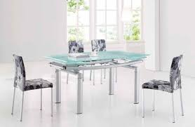 expandable glass dining room table 5775