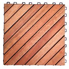 vifah roch 12 dianogal slat 12 in x 12 in wood outdoor balcony