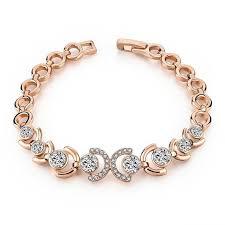 bracelet rose images Rose gold and ice bracelet pandoras box inc jpg