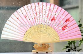 cheap fans 21cm cheap and delicate craft folding fan silk fan 5