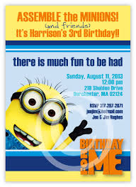 diy minion invitations despicable me minion birthday invitation