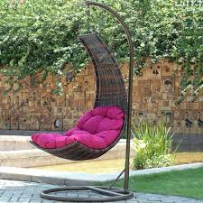 Trully Outdoor Wicker Swing Chair by Cute Magenta Couch On Hanging Egg Chair From Wire Materials Hang