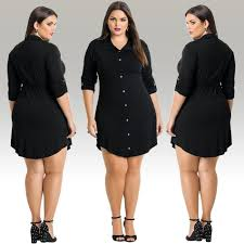 2017 fashion women casual style loose dress plus size l 3xl