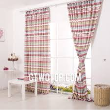 Pink Striped Curtains Pink Baby Blue White Best Discount Striped Curtains