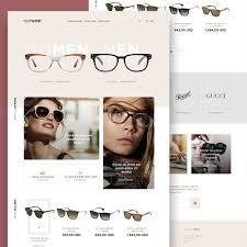 awesome eyewear sunglasses store website template free psd