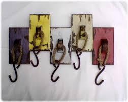 vintage diy coat hooks
