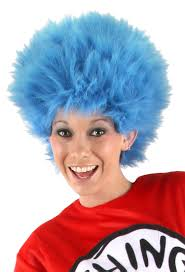 wigs for halloween dr seuss thing 1 thing 2 wig halloween accessory walmart com