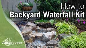 Backyard Waterfall How To Build A Backyard Waterfall Youtube