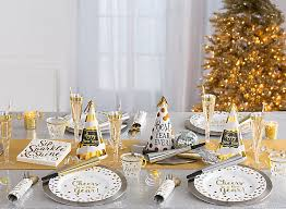 New Years Table Decorations Ideas by White And Gold New Year U0027s Eve Ideas Party City