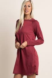 maroon sweater dress burgundy solid sleeve maternity sweater dress