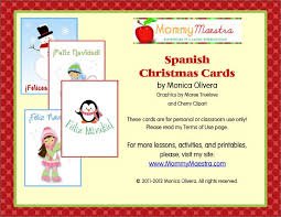mommy maestra spanish christmas cards printable