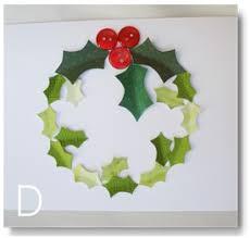 homemade christmas card ideas wreath
