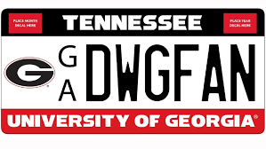 uga alumni car tag a uga license plate in tennessee wtvc