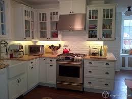 kitchen with brick backsplash white brick backsplash kitchen contemporary with arched window
