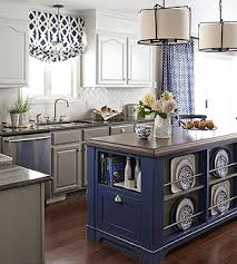Small Kitchen With Island Design Small Space Kitchen Island Ideas Bhg